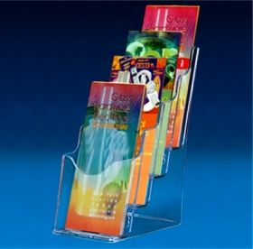 Brochure holder multilevel 4 x Trifold brochures