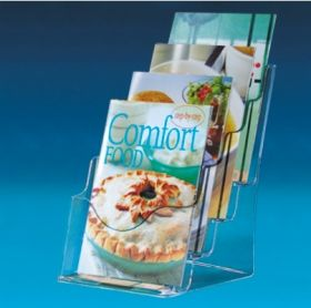 Brochure holder multilevel 4 x A5