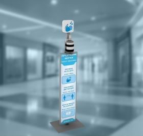 Floor stand for hand sanitizer