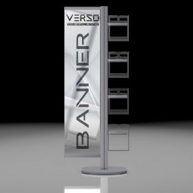 Verso Banner with Posterframes 4 x A4